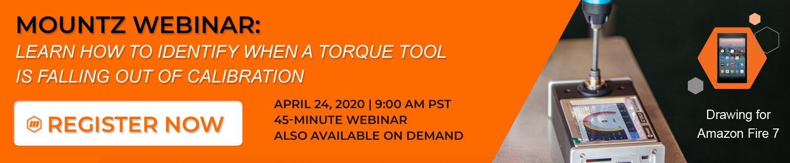 Mountz Webinar: Learn How to Identify When a Torque Tool is Falling Out of Calibration