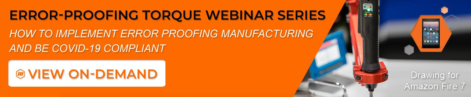Learn How to Implement Error Proofing Manufacturing & be COVID-19 Compliant